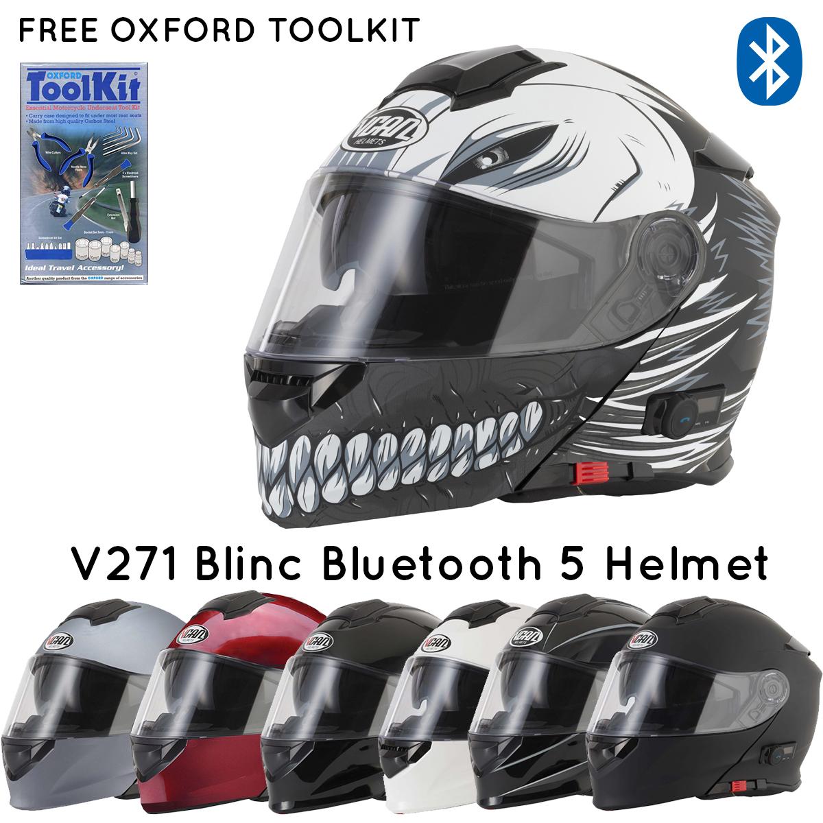 v271-1 Vcan V271 Blinc Bluetooth 5 Helmet- FREE OXFORD TOOL KIT