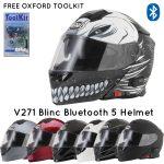 Vcan V271 Blinc Bluetooth 5 Helmet- FREE OXFORD TOOL KIT