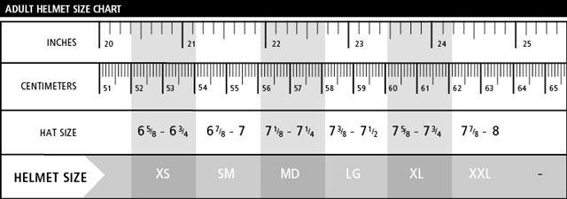Adult_Helmet_Size_Chart Helmet Sizing Chart